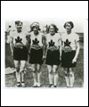 Bobbie Rosenfeld with Canadian relay team