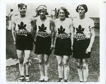 1928 Canadian women's relay team.