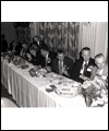 Filchock at a table for the 1953 Grey Cup Dinner