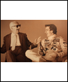 Enzo Ferrari and Gilles Villeneuve (right)