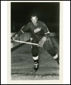 Gordie Howe wearing a Detroit Red Wings uniform