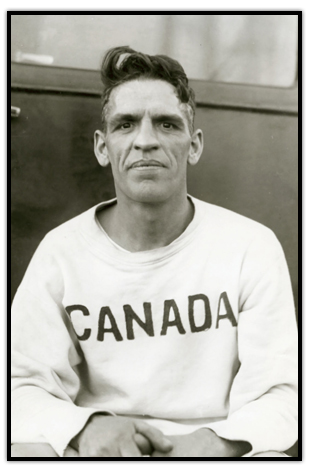 Photograph of Harold Webster wearing a Team Canada warm up shirt