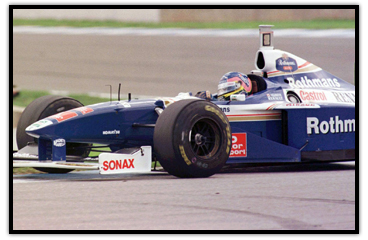 Jacques Villeneuve racing in Spain