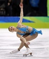 Joannie Rochette skating at the Winter Olympic Games
