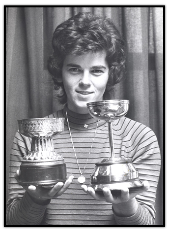 Jocelyne Bourassa with her trophies