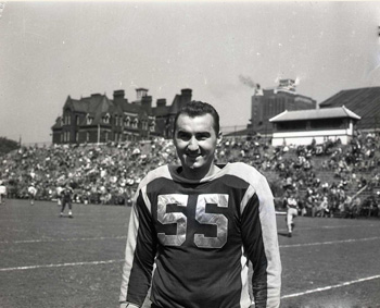 Joe Krol wearing uniform number 55.