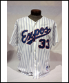 Montreal Expos' jersey worn by Larry Walker