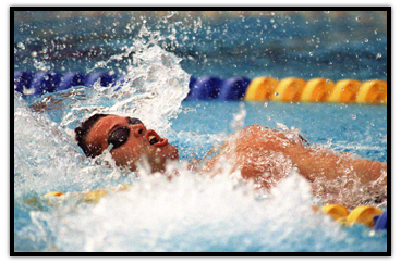 Mark Tewksbury's Gold medal winning race in the 100m backstroke at  the 1992 Olympic Games in Barcelona