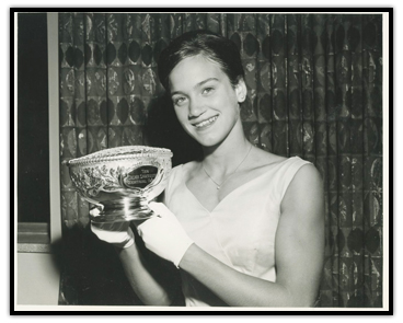 Mary Stewart with her Velma Springstead Memorial Trophy