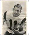 Portrait of Ron Stewart with a football