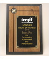 Sandra Post's Teeoff Golfer of the Year plaque