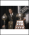 Sidney Crosby with three prestigious NHL Awards